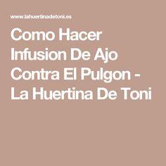 Como Hacer Infusion De Ajo Contra El Pulgon - La Huertina De Toni