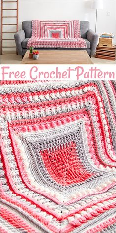 Crochet afghans 333477547411414577 - Latest Cozy And Colorful Free Crochet Afghan Patterns To Try This Winter – Free Crochet Patterns Source by Crochet Afghans, Crochet Throw Pattern, Crochet Squares Afghan, Crochet Quilt, Granny Square Crochet Pattern, Afghan Crochet Patterns, Knit Or Crochet, Baby Blanket Crochet, Chevron Crochet