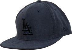 New Era LA Dodgers Suede Style Snapback Cap. Navy Blue with the Tonal LA  front logo 0acd16d8e27