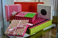 Papier japonais et les boîtes