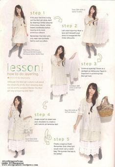layering like a mori girl  romantic styl clothes