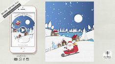 Paper Christmas Scene Animated Card Jones Family, Christmas Scenes, Playing Cards, Bee, Animation, Invitations, Make It Yourself, Paper, Youtube