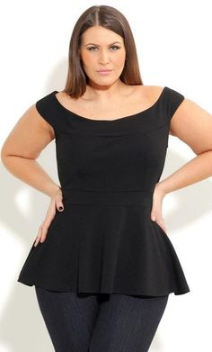 Love the peplum! #plussize
