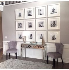 Stunning living room wall gallery design ideas 18 Large house, but how wide? Frames On Wall, White Frames, Wall Collage, White Picture Frames, Ikea Frames, Scandinavian Picture Frames, Ikea Picture Frame, Photo Frame Display, Black And White Picture Wall