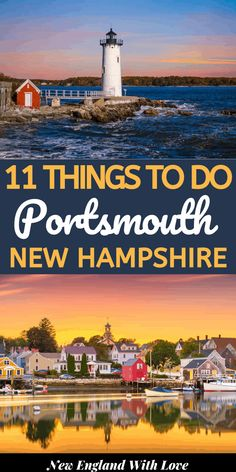 For a great New England getaway, you can't beat Portsmouth. In this travel guide, discover the best things to do in Portsmouth NH including where to eat & stay. New England States, New England Fall, New England Travel, England Christmas, Us Travel Destinations, Places To Travel, Cool Places To Visit, Places To Go, Portsmouth New Hampshire
