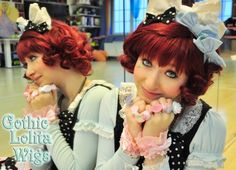 Gothic Lolita Wigs | Short Curly Lolita Bob | Burgundy - Wine Red