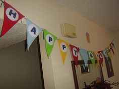 Birthday Banner. Simple design so kids can help too.