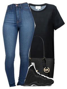 Untitled #495 by queen-dope ❤ liked on Polyvore featuring 3.1 Phillip Lim, MICHAEL Michael Kors and NIKE