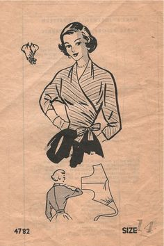 Mail Order 4782. The morning newspaper (yes, there was an evening paper too) contained a free sewing pattern every day.