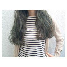 2016♡緑の髪色×グラデーション、アッシュ、ツートーン 市販も | 美人部