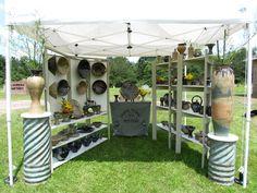 J. Wilson Pottery booth display. www.facebook.com/J.WilsonPottery