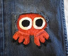 Fun ways to patch your kids' pants. Cute!