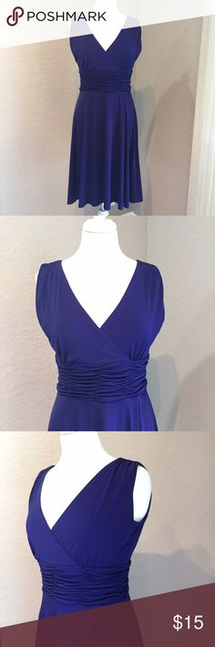 Beautiful Royal Blue Dress Size 10p  95% polyester and 5% spandex, very stretchy  AA Studio Dresses Midi