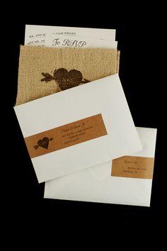 kraft paper insert including address and return - love the address labels!