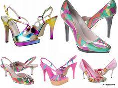 cores nos sapatos