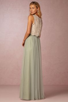 BHLDN has some really beautiful colors & seperates - Here's another skirt and top option - BHLDN Cleo Top & Louise Skirt in  Bridesmaids View All Dresses at BHLDN