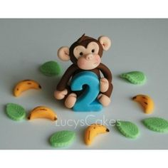 Monkey Cake Topper (plus extras)