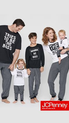 PJs all day? Don't mind if we do! Get matching family jammies at JCPenney just in time for the holidays. Hurry, before they sell out fast! Family Pjs, Matching Family Pajamas, Family Humor, Family Outfits, Family Shirts, Holiday Outfits, Holiday Clothes, Xmas Pjs, Christmas Pjs