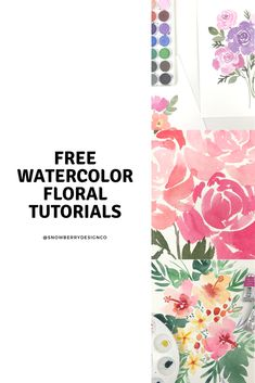 Welcome to Snowberry Design Co, the place to be to learn how to paint loose watercolor flowers! I help frustrated watercolor artists become confident and mas. Watercolor Flowers Tutorial, Watercolor Painting Techniques, Watercolor Tips, Watercolor Projects, Watercolour Tutorials, Watercolor Illustration, Watercolour Painting, Floral Watercolor, Watercolors
