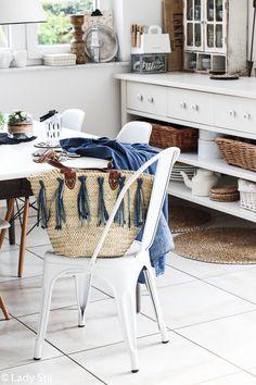 DIY Jeans-Tassel Ibizakorb verschönern, Jeansblau Trend Frühjahr Sommer 2017
