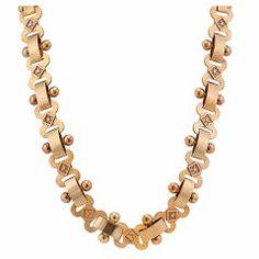 Original Victorian Etruscan Revival Gold Necklace