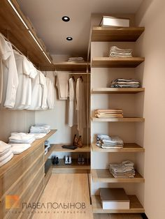 "Photo wardrobe room from the project ""Design project of apartment 70 sq. in the residential complex ""Riverside"", modern style "" Wardrobe Design Bedroom, Bedroom Wardrobe, Wardrobe Closet, Walk In Closet Design, Closet Designs, Room Ideas Bedroom, Home Bedroom, Apartment Interior, Apartment Design"