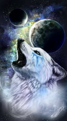 "Wolves: #Wolf ~ ""Oskha the White Wind,"" by WolfRoad, at deviantART."