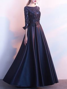 best=Stylewe Prom Dresses Formal Dresses Prom Ball Gown Crew Neck 3 4 Sleeve Paneled Elegant Dresses , Looking for that Perfect Prom Dress? Want to look amazing at the dance? Fitted Prom Dresses, Sequin Evening Dresses, Ball Gowns Evening, Formal Dresses, Maxi Dresses, Hijab Evening Dress, Dress Prom, Cheap Elegant Dresses, Pretty Dresses