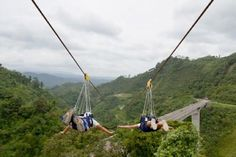 World's fastest and longest zipline - Sun City, South Africa BelAfrique your personal travel planner - www.BelAfrique.com