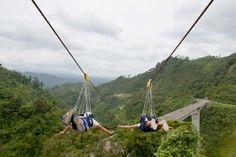 World's fastest and longest zipline - Sun City, South Africa (honeymoon)