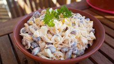 Szybka i pyszna sałatka z czerwoną fasolą Diet Recipes, Cooking Recipes, Healthy Recipes, Healthy Foods, Tortellini, Potato Salad, Cabbage, Grilling, Salads