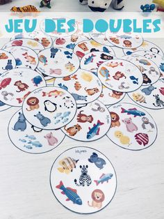 Jeu des Doubles à imprimer Shape Matching, Matching Games, Double Game, French Teaching Resources, Shape Games, Free Puppies, Learning Shapes, Early Math, Games For Toddlers