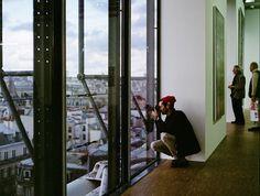 Institut du Monde Arabe view from rooftop terrace.