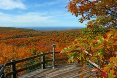 One of many beautiful views from the overlooks in the Porcupine Mountains. Amazing to visit in the #fall! #autumn #Michigan