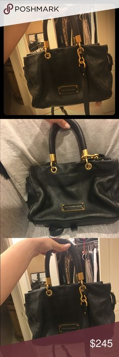 Marc Jacobs Black Handbag Black leather handbag with good hardware. Fits a lot & can be worn as a cross body bag or hand bag Marc by Marc Jacobs Bags Crossbody Bags