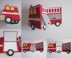 Papirnate radosti: Gasilska Firefighter Birthday Cakes, Punch Art Cards, Masculine Cards, Scrap, Kids Cards, Paper Crafts, Crafty, Toys, Children