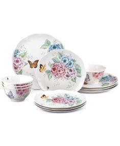 Lenox Butterfly Meadow Hydrangea Collection 12-Pc. Dinnerware Set   macys.com