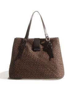 Jigsaw woven leather bag