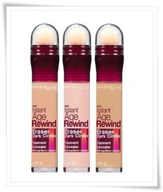 Maybelline instant age rewind concealer-I never sleep enough...this is a must! One of the best drugstore concealers!