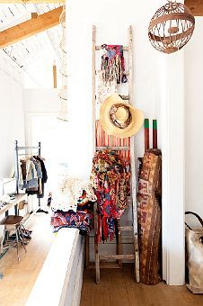 a cute way to store & display winter coats