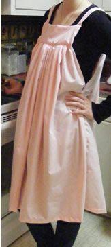 Amish apron -- pink surprises me.