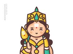Murugan - The God of War desi god icons gods iconography scd balaji indian illustrator murugan icon design icon icon trends icon styles tamil god Cute Doodle Art, Cute Doodles, Outline Illustration, Character Illustration, Lord Murugan Wallpapers, Fabric Painting, Painting Tips, Painting Art, Watercolor Painting