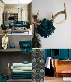 Decorative inspiration around the peacock blue color. Source by louisegrenadine Peacock Blue Paint, Peacock Color Scheme, Room Interior, Interior Design, Clipart Black And White, Shabby, Blue Art, Color Pallets, Lyon