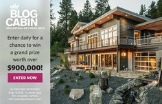 DIY Network Blog Cabin 2015 has an incredible outdoor space with a hot tub, waterfall and nature trail! Enter now for your chance to win >> http://www.diynetwork.com/blog-cabin/sweepstakes/enter?soc=pinterestbc15