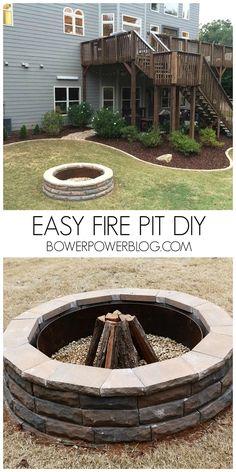Easy Fire Pit DIY