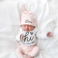 2ba50e21305a Loving this cute baby girl going home from hospital outfit. It can be  personalised as