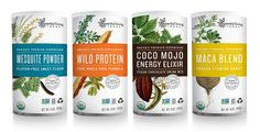 """""""healthy food packaging"""" - These examples of healthy food packaging from Essential Living Foods show off an Organic Premium Superfood range of products. Branding And Packaging, Juice Packaging, Food Packaging Design, Branding Design, Medical Packaging, Organic Packaging, Coffee Packaging, Bottle Packaging, Label Design"""