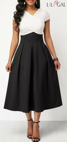 Color Block High Waist Maxi Dress #liligal #dresses #womenswear #womensfashion