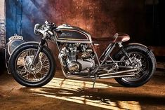 A Classic Honda CB550 Cafe Racer from Mellow Motorcycles