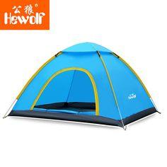 Hewolf 2 Person Tent Sunshade Automatic Quick Open Waterproof UV Beach Sun Shelter Shade